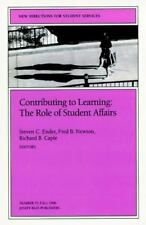 Contributing to Learning - The Role of Student Affairs: New Directions-ExLibrary