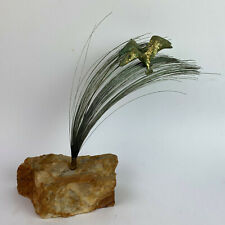 mid century modern kinetic WIRE ART SCULPTURE signed