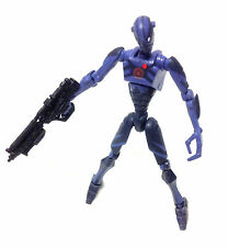 "STAR WARS Clone Wars BLUE ASSASSIN DROID 3.75"" toy action figure RARE"