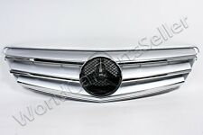 Front Grill Center Grille Fits MERCEDES C-Class W204 Sedan 2007-2010