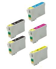 5PK 2BK & 3Color Ink For Epson 60 T0601 - T0604 Stylus C88 CX3800 3810 4800 7800