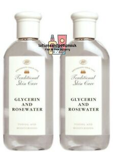 Boots TRADITIONAL Skin Care GLYCERIN AND ROSEWATER 200ML - 2 PACK