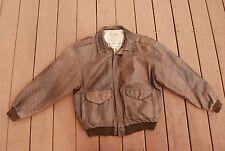 Brown Leather L'Officiel CORPS D'AVION Zip Front Leather Jacket Man's Medium