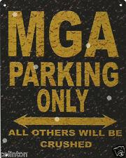 MGA PARKING METAL SIGN RUSTIC VINTAGE STYLE6x8in 20x15cm garage WORKSHOP ART
