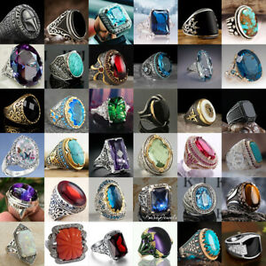 Gorgeous 925 Silver Rings Men Women Creative Wedding Party Jewelry Gift Size6-13