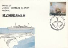 JERSEY CANCELLATION:1972 POSTED ON BOARD M.V.KUNGSHOLM souvenir cover