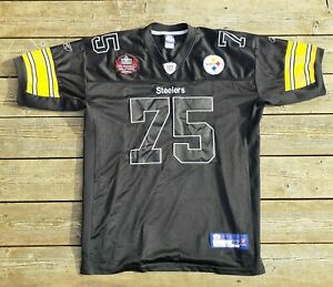 REEBOK #75 MEAN JOE GREENE PITTSBURGH STEELERS HALL OF FAME FOOTBALL JERSEY XXL