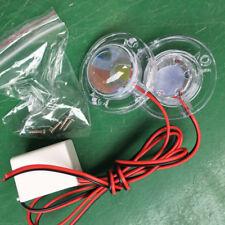 1Pc Car 2 LED Strobe Bulb Light Emergency Warning Flash 12V Plastic White