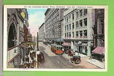 #E.     POSTCARD -  TRAM, HORSES, ST CATHERINE ST., WEST MONTREAL