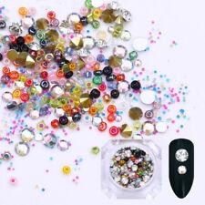 Caviar Beads Multi-size Nail Rhinestones 3D Nail Art Decoration Sharp Bottom