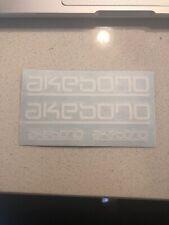 4X Akebono Brake Caliper Decal Sticker Car Emblem Logos White ONLY