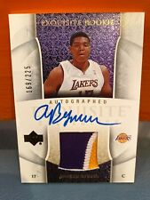 2006 Upper Deck Exquisite Andrew Bynum Rookie Auto & Patch #'d 225