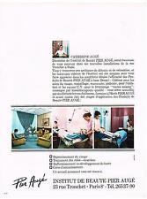 PUBLICITE  1969   INSTITUT PIER AUGE   CATHERINE AUGE