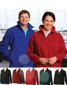 Polar Fleece Jumper Size XXS  XS S M L XL 2XL 3XL 4XL 5XL Top Half Zip