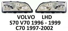 VOLVO V70 S70 1996-1999 C70 1997-2002 PAIR H7 HEADLAMPS HEADLAMP HEADLIGHTS LHD