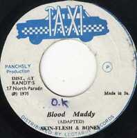 "SKIN FLESH & BONES-blood muddy     taxi 7""      (hear)     reggae  dub"