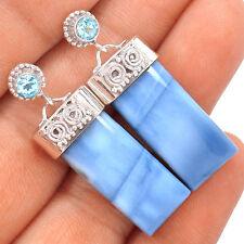 Owyhee Opal & Blue Topaz 925 Sterling Silver Earrings Jewellery
