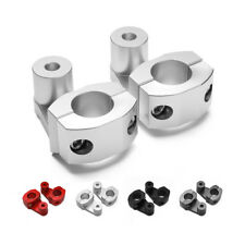 "1 1/8"" CNC HandleBar Handle Fat Bar Mount Clamp Riser Enduro MX Supermoto Silver"
