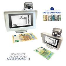 Rilevatore Banconote False Verifica soldi falsi Euro bank vision con telecamera