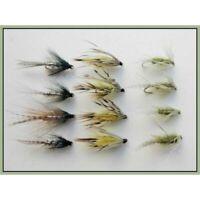 Dabblers,Trout Flies, 12 x Teal, Olive & Flaming mayflies Size 10/12, Loch Flies