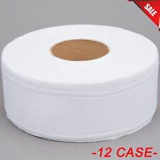 12/Case Lavex Janitorial 2-Ply Jumbo Toilet Paper Roll w/ 9 Diameter White Bulk