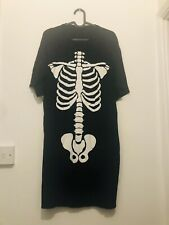 Skeleton Dress Short Sleeve Size 16