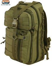 DELTA 30 Litre MOLLE TACTICAL COYOTE 270 DEGREE SIDE ZIP RUCKSACK / DAYSACK