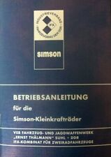 Betriebsanleitung für SIMSON S51 und Schwalbe KR51/2 Bedienungsanleitung VEB DDR