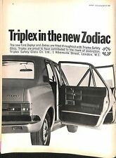 Original Vintage 1960s Triplex Safety Glass Advert Motor Magazine 23 April 1966
