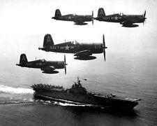 "F4U Corsairs returning from Korea USS Boxer 8""x 10"" Korean War Photo 8"
