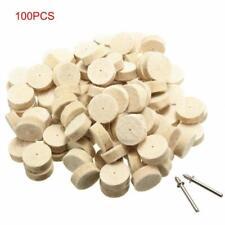 100pcs 13mm Wool Felt Polishing Wheel Buffing Pad Set for Dremel Rotary Tools.US