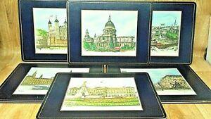 "Vintage Pimpernal Placemats London Scenes Set of 6 England 12"" X 9"""