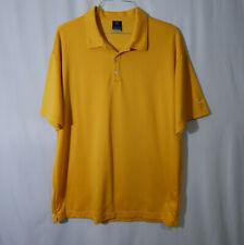 Nike Sphere Dry Short Sleeve Yellow Golf Polo Shirt Size 2XL XXL Mens Clothing