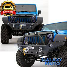 Rock Crawler Front Bumper+Fog Light Hol+Winch Plate for 07-17 Jeep Wrangler JK