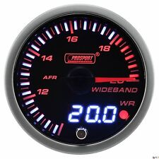 PROSPORT 60mm JDM Series Amber Red & White Led Wideband Air Fuel Ratio Gauge