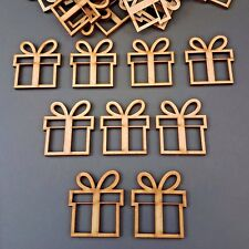 Wooden Christmas Presents MDF Craft Blanks Xmas Shapes Art crafts Laser cut