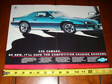 1982 CHEVROLET CAMARO Z28 - ORIGINAL 2 PAGE AD