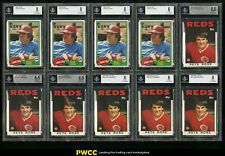 Lot(10) 1981-86 Topps + Tiffany Pete Rose, ALL BGS 8 8.5, NM-MT to NM-MT+ (PWCC)