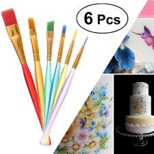 6x/set DIY Cake Brush Fondant Decorating Painting Brush Baking Pastry Tools-