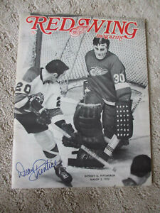 MARCH 5  1970 DETROIT RED WINGS vs PITTSBURGH  HOCKEY PROGRAM DEAN PRENTICE AUTO