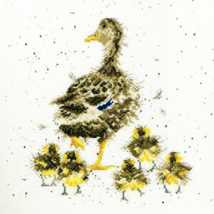 Bothy Threads ~ Counted Cross Stitch Kit ~ Lovely Mum ~ Duck and Ducklings  XHD2