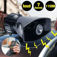 100w 12V 115db 7 Sounds Loud Air Horn Siren For Car Boat Van Truck+MIC Speaker