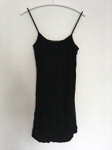 MANGO MNG Sz S Womens Dress Black Sleeveless Tunic 8 36 M Straps Cami Top