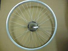 "WHEEL 26"" Rear DISC Silver Alloy Mountain Bike MTB Bicycle QR Double Wall add FW"