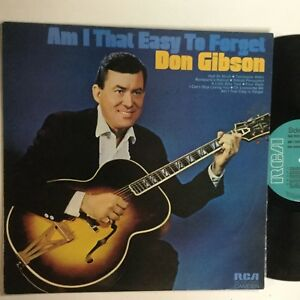 """Don Gibson Am I That Easy To Forget RCA Camden Label 12"""" LP"""