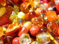 NEW 6/oz Orange/ Yellow/ Peach Glass beads lot 6-15mm  LOT LOOSE BEADS