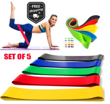 Resistance Bands Exercise Sports 5PCS Loop Set Fitness Home Gym Yoga Latex