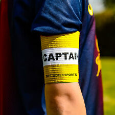 Football Captains Armband WHITE/Yellow JUNIOR Arm Band [Net World Sports]