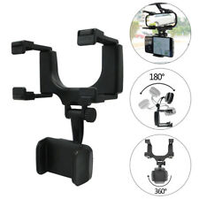 Car Rearview Mirror Mount Stand Holder Cradle For Cell Phone GPS Auto Universal