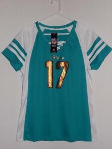 Miami Dolphins jersey t shirt ladies Draft Him IV Ryan Tannehill aqua NWT